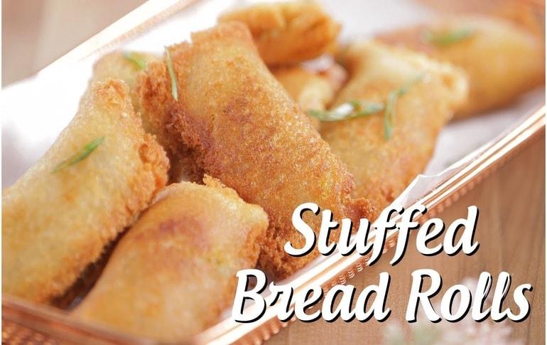 Cheese Stuffed Bread Rolls By Archana Arte