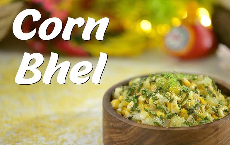 2-Minute Corn Bhel Recipe by Megha Joshi