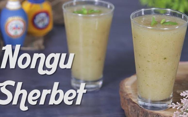 7 Easy Steps To Make Nongu Sherbet By Preetha Srinivasan