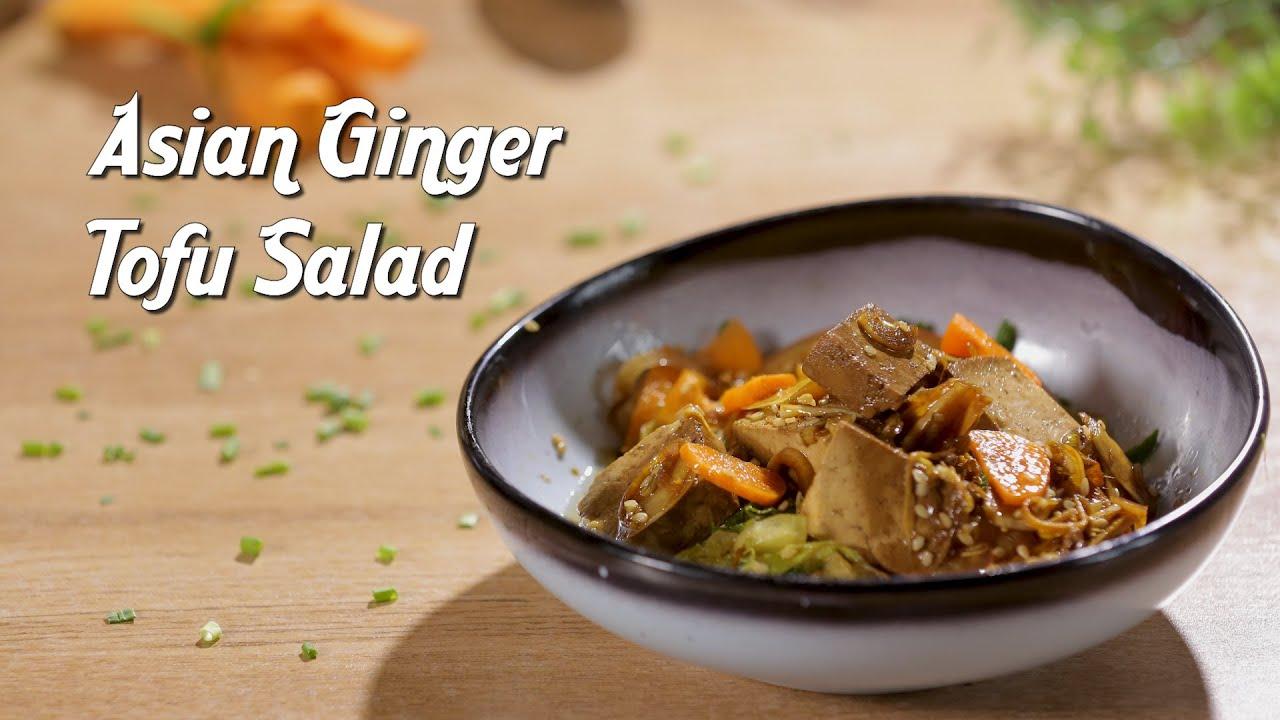 Asian Ginger Tofu Salad Recipe by Kamini Patel