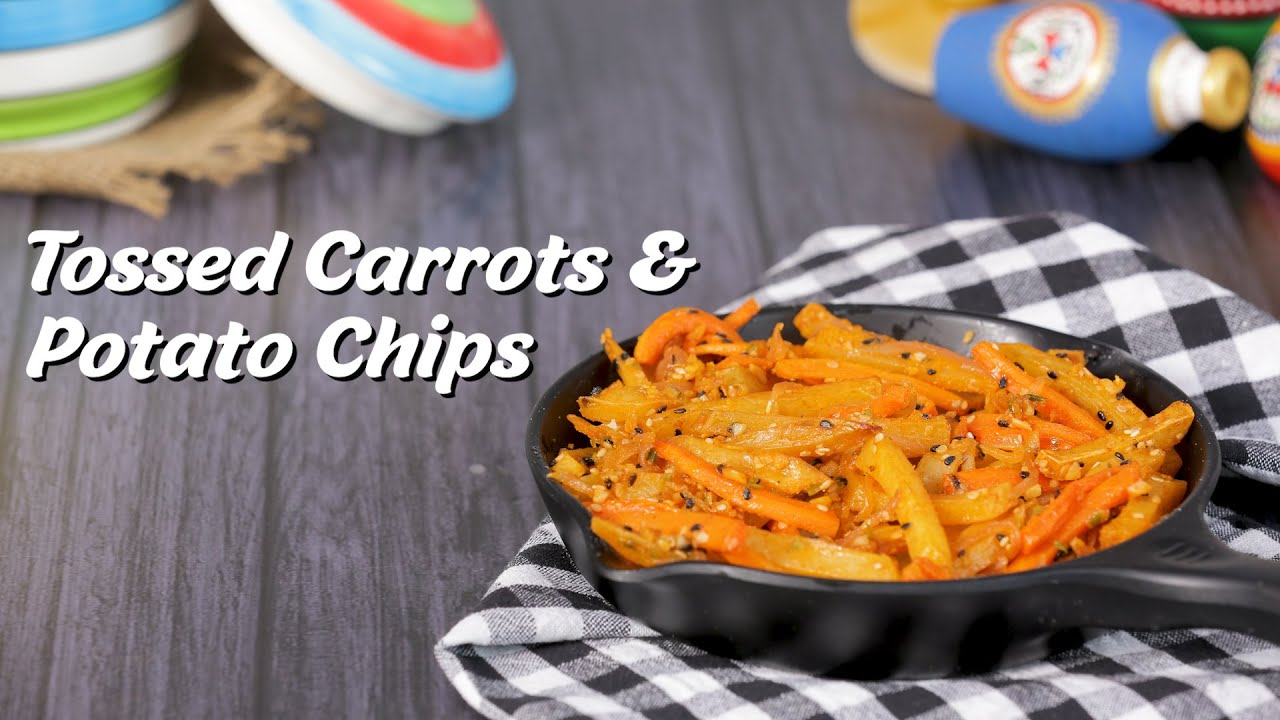 Snacks Recipes | Baked & Tossed Carrots & Potato Chips