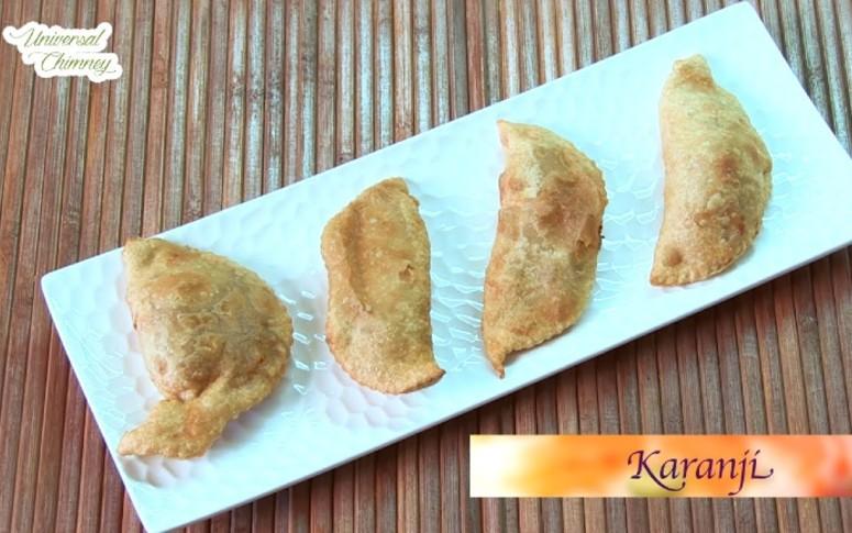 How To Make Coconut Jaggery Karanji At Home