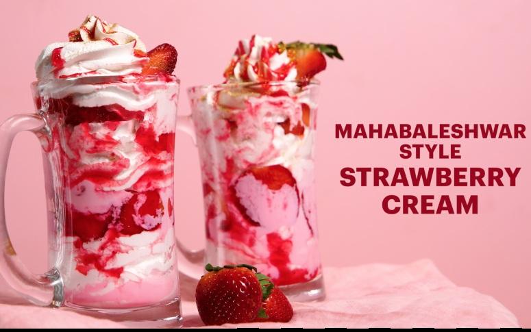 Mahabaleshwar-Style Strawberry Cream