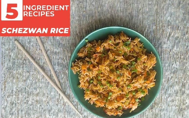 5 Ingredient Recipe: Schezwan Rice