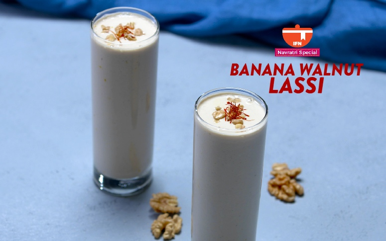 Navratri Special: Banana Walnut Lassi
