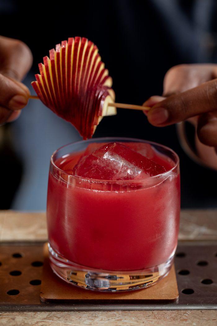 The Bourbon-based, Appleberry Rocks