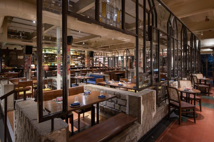 The interiors at The Bombay Canteen